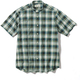 CシールドプレザントS S/S C-SHIELD Pleasant Shirt S/S 5212080 (060)グリーン Sサイズ [アウトドア シャツ メンズ]