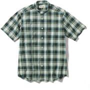 CシールドプレザントS S/S C-SHIELD Pleasant Shirt S/S 5212080 (060)グリーン Lサイズ [アウトドア シャツ メンズ]