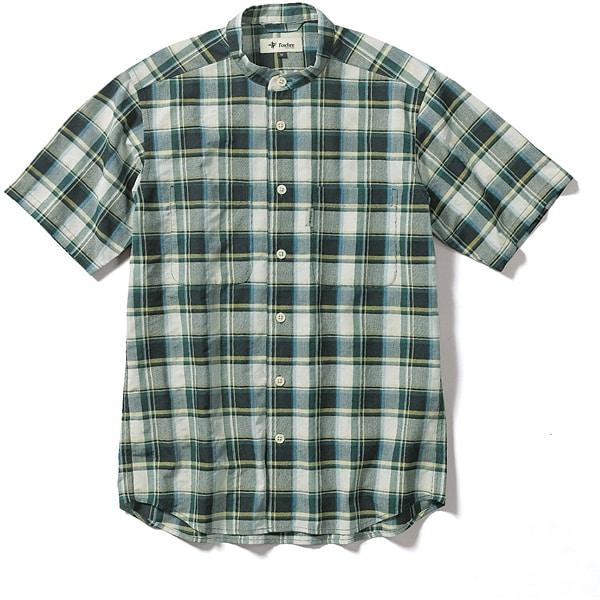 CシールドプレザントS S/S C-SHIELD Pleasant Shirt S/S 5212080 (060)グリーン XLサイズ [アウトドア シャツ メンズ]