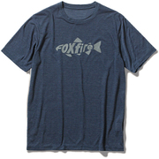 TSウールフィネスプリントT TS Wool Finesse Print T 5215024 (046)ネイビー XLサイズ [アウトドア シャツ メンズ]
