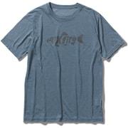 TSウールフィネスプリントT TS Wool Finesse Print T 5215024 (200)アイアンブルー Mサイズ [アウトドア シャツ メンズ]
