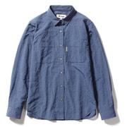 Cシールドプレザントシャツ C-SHIELD Pleasant Shirt 8212040 (040)ブルー Mサイズ [アウトドア シャツ レディース]
