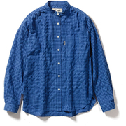 TSギンガムシャツ TS Gingham shirt 8212044 (040)ブルー Lサイズ [アウトドア シャツ レディース]