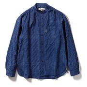 TSギンガムシャツ TS Gingham shirt 8212044 (046)ネイビー Lサイズ [アウトドア シャツ レディース]
