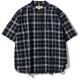 CシールドプレザントS S/S C-SHIELD Pleasant Shirt S/S 8212045 (046)ネイビー Lサイズ [アウトドア シャツ レディース]