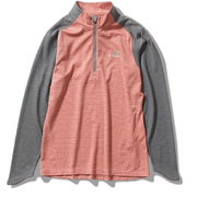 TSウールハーフZIP TS Wool Half Zip 8215055 (221)ピンクボーダー Lサイズ [アウトドア フリース レディース]