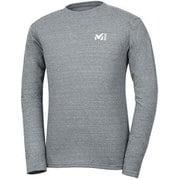 M ロゴ ASA Tシャツ ロング スリーブ M LOGO ASA TS LS M MIV01768 6342 CHARCOAL HEATHER  XSサイズ(日本:Sサイズ) [アウトドア カットソー メンズ]