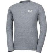 M ロゴ ASA Tシャツ ロング スリーブ M LOGO ASA TS LS M MIV01768 6342 CHARCOAL HEATHER  Lサイズ(日本:XLサイズ) [アウトドア カットソー メンズ]
