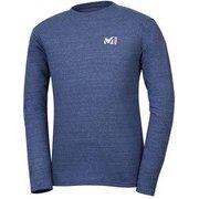 M ロゴ ASA Tシャツ ロング スリーブ M LOGO ASA TS LS M MIV01768 6357 HEATHER NAVY Mサイズ(日本:Lサイズ) [アウトドア カットソー メンズ]