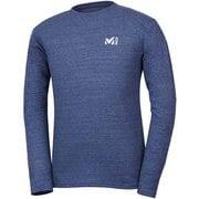 M ロゴ ASA Tシャツ ロング スリーブ M LOGO ASA TS LS M MIV01768 6357 HEATHER NAVY Lサイズ(日本:XLサイズ) [アウトドア カットソー メンズ]