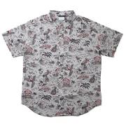 ラピッドリバープリンテッドショートスリーブシャツ AE0094 040 Columbia Grey Lost in Paradise Print Lサイズ [アウトドア シャツ メンズ]