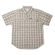 シルバーリッジ2.0プラッドショートスリーブブシャツ AE0648 243 Crouton Gingham Lサイズ [アウトドア シャツ メンズ]