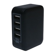 IPA-60U/BK [USB-ACアダプタ 5V/6A対応 4ポート ブラック]