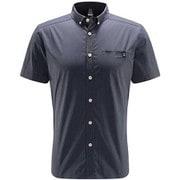 ブルーン ショートスリーブ シャツ Brunn SS Shirt Men 604396 4D8 DENSE BLUE Mサイズ [アウトドア 半袖シャツ メンズ]