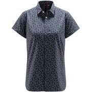 イドゥン ショートスリーブ ティー Idun SS Shirt Women 604002 4H6_DENSE BLUE FLOWER Sサイズ [アウトドア シャツ レディース]