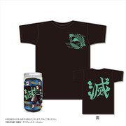 鬼滅の刃 ボトルTシャツ C柄/黒 M [キャラクターグッズ]