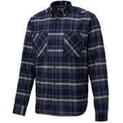 シーエルプラッドロングスリーブシャツ CL PLAID L/S SHIRT TOMPJB75 (NV)ネイビー Lサイズ [アウトドア シャツ メンズ]