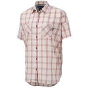 ウィメンズキューディープラッドハーフスリーブワイドシャツ WS QD PLAID H/S WIDE TOWPJA74 (BG)ベージュ XLサイズ [アウトドア シャツ レディース]