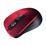 MA-BTBL155R [静音Bluetooth 5.0 ブルーLEDマウス(5ボタン・レッド)]
