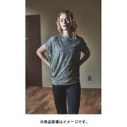 W YOGA LOOSE TEE PRINTED レディース半袖ヨガルーズ・プリントTシャツ SNW015427 ネイビー Sサイズ [ヨガウェア シャツ レディース]