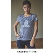 W EVERYDAY TEE レディース半袖グラフィック瞑想シルエットTシャツ SNW013403 M56 グレー Sサイズ [アウトドア カットソー レディース]