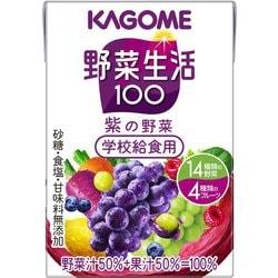 学校給食用 野菜生活100 紫の野菜 100ml×36本