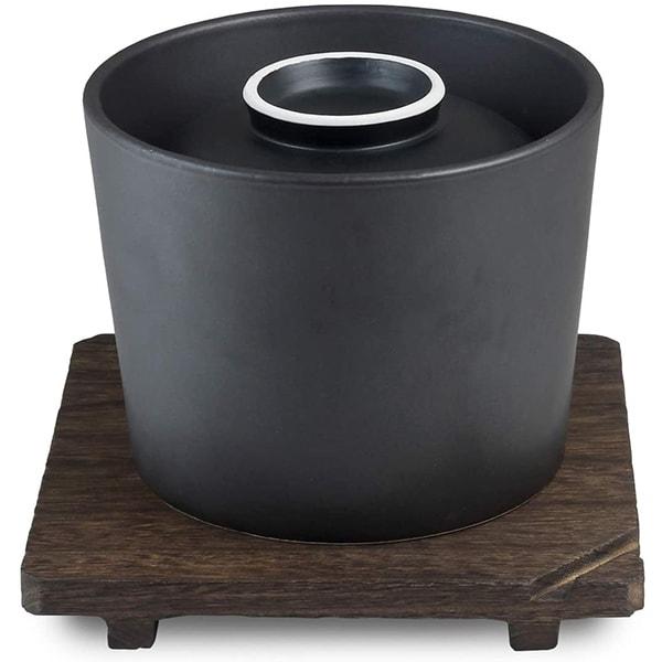 おひつ炊飯鍋 ブラック 1.5合 有田焼