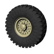 PZ35588 米・HEMTT軍用トラック用タイヤホイール [1/35スケール レジン製ディティールアップパーツ]