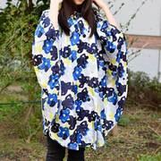 レインポンチョ Rainponcho PLUS 58177 Paint Flower [アウトドア レインウェア レディース]