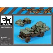 HAUT35221 米 1/4トン 小型軍用車用 アクセサリーセット [1/35スケール レジン製ディティールアップパーツ]