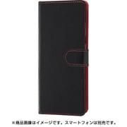 RT-GS205ELC1/BR [Galaxy S20 5G 用 手帳型ケース シンプル ブラック/レッド]