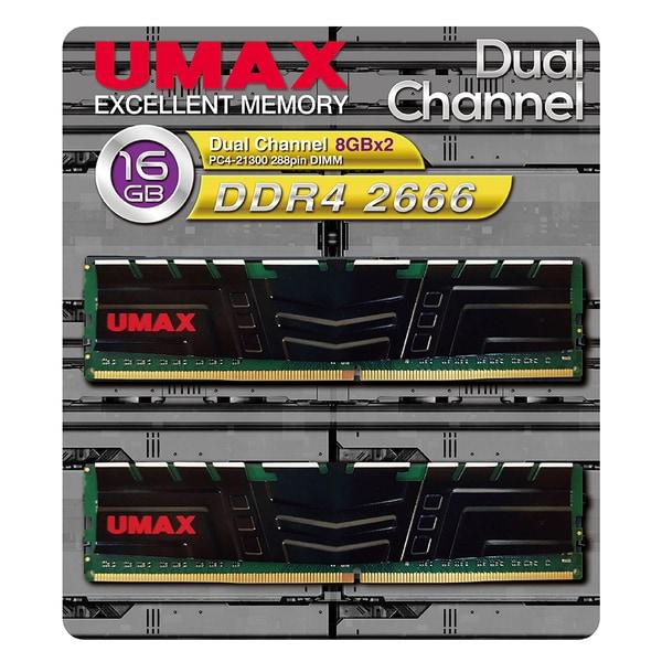 UM-DDR4D-2666-16GBHS [デスクトップ用メモリ 288Pin DDR4-2666 (PC4-21300) 8GBx2 デュアルチャンネルセット ヒートスプレッダ付き]