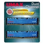 UM-DDR4D-3200-32GBHS [デスクトップ用メモリ 288Pin DDR4-3200 (PC4-25600) 16GBx2 デュアルチャンネルセット ヒートスプレッダ付き v1.35]