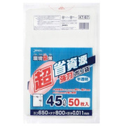 KT57 [ポリ袋 45L 半透明 0.011 50枚 環境袋策]