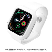 JGWSSCW5S0-WH [AppleWatch 4&5 40mm 用 シンプルモノカラーバンド WH]