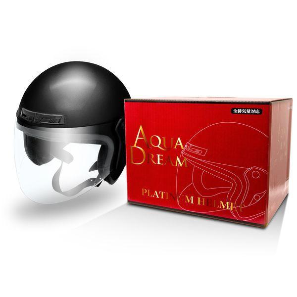 AD-OF200-BK [オートバイ用ヘルメット フリーサイズ(57cm~60cm) オープンフェイス ブラック]