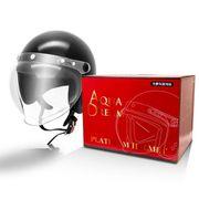AD-WSJ200-BK [オートバイ用ヘルメット フリーサイズ(57cm~60cm) ジェットタイプ シールド付 ブラック]