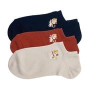 和布日和 刺繍3Pソックス レディース 三毛猫