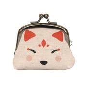日本の縁起がま口 白狐