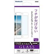 OWL-GPIC47F-WAB [iPhone SE(第2世代)/8/7/6s/6 4.7インチ用 ガラス 全面保護 アンチグレア ブルーライトカット ホワイト]