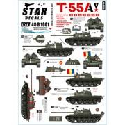 SD48-B1001 現代 露/ソ 冷戦時代のT-55A ソビエト及びワルシャワ機構 [1/48スケール デカール]