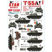 SD72-A1049 現代 露/ソ 冷戦時代のT-55A ソビエト及びワルシャワ機構 [1/72スケール デカール]