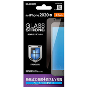 PM-A19AFLGTBL [iPhone SE(第2世代)/8/7/6s/6 4.7インチ用 ガラスフィルム 3次強化 ブルーライトカット]