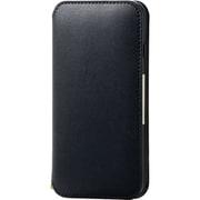 PM-A19APLFY2BK [iPhone SE(第2世代)/8/7 4.7インチ用 ソフトレザーケース NEUTZ(ニューツ) 磁石付 ブラック]