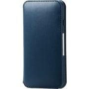 PM-A19APLFY2NV [iPhone SE(第2世代)/8/7 4.7インチ用 ソフトレザーケース NEUTZ(ニューツ) 磁石付 ネイビー]