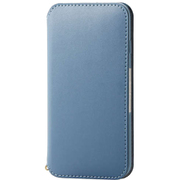 PM-A19APLFY2BU [iPhone SE(第2世代)/8/7 4.7インチ用 ソフトレザーケース NEUTZ(ニューツ) 磁石付 ブルー]