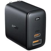 PA-B3-BK [USB充電器 Omnia Mix 65W PD対応 USB-A 1ポート/USB-C 1ポート ブラック]