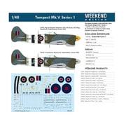 EDU84171 ホーカー テンペス トMk.V シリーズ1 ウィークエンドエディション [1/48スケール プラモデル]