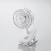 FAN-U207WH [USB扇風機 flowflowflowクリップファン 充電可能 ホワイト]