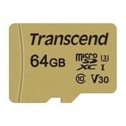 TS64GUSD500S [microSDXC 64GB アダプタ付]